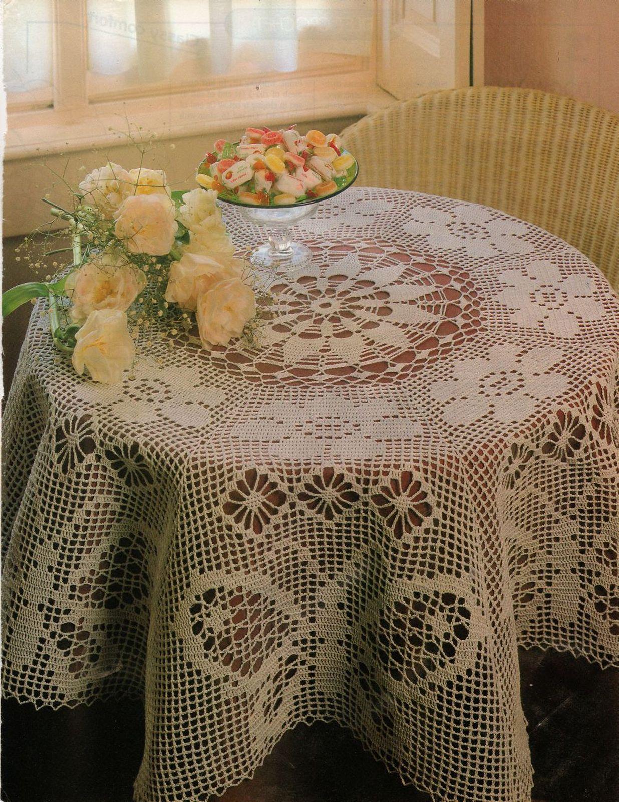 4X Butterfly Table Skirt Mat Pillows Dogwood Pillow Filet Crochet Patterns