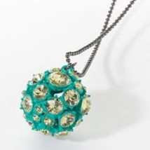 Princess Vera Wang Faux Crystal Green Ball Pendant Necklace - $13.84
