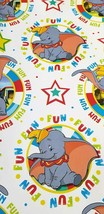 Dumbo Elephant Wrapping Paper Party Gift Decoration 2 Sheets Soft Gloss ... - $18.76