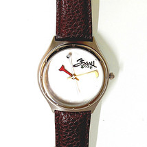 Golf Watch, Raised Golf Ball Dial, Fossil Special Edition, Padded Brown ... - $90.44 CAD