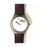 Golf Watch, Raised Golf Ball Dial, Fossil Special Edition, Padded Brown ... - $68.16