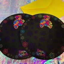2 Sheets HTF LISA FRANK mint BLOSSOM BEAR ROUND stationery image 1