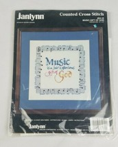 Vintage Janlynn counted cross stitch Music Gift Of God 64-10 needlework  - $7.92