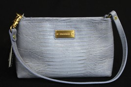 NWT! Brahmin Anytime Mini Bag in Chambray Mason Lizzard. Embossed  Lilac Leather - $79.00