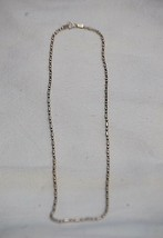 "Sterling Silver Signed MWS Marked .925 Italy Beaded Necklace 18"" Long - $29.69"