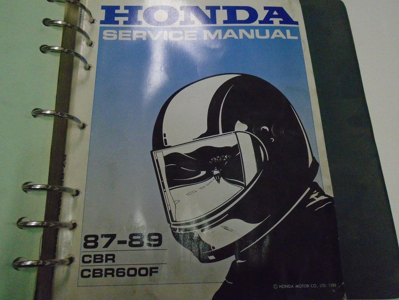 1987 1988 1989 Honda CBR CBR600F Service Shop Repair Manual FACTORY OEM  Used ***