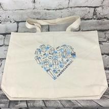"Modcloth Canvas Tote Reusable Eco-Friendly Shopping Bag 18""X14"" 100% Cotton - $14.84"