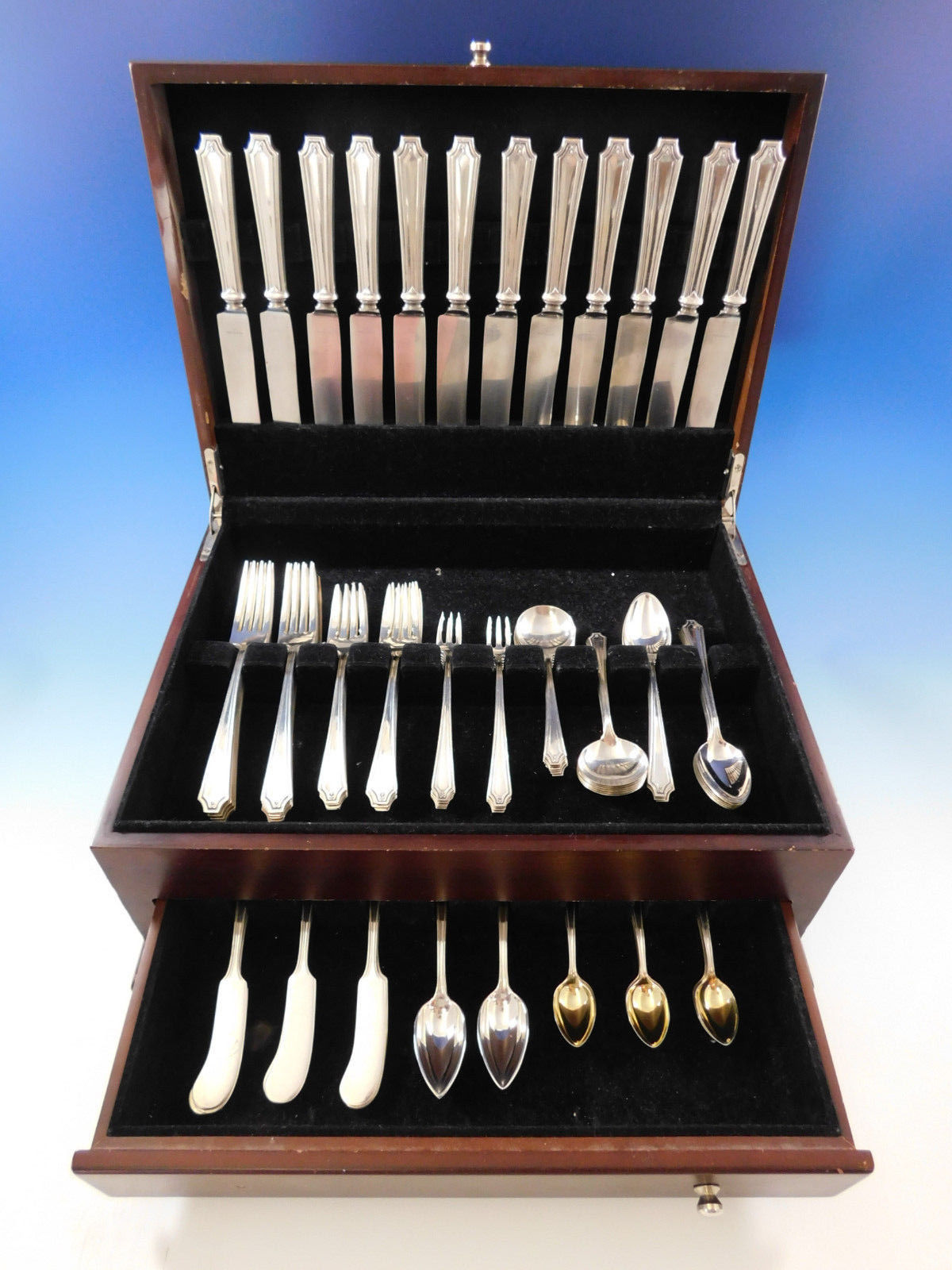 """King Albert by Whiting Sterling Silver Gumbo Soup Spoon 6 7//8/"""""""