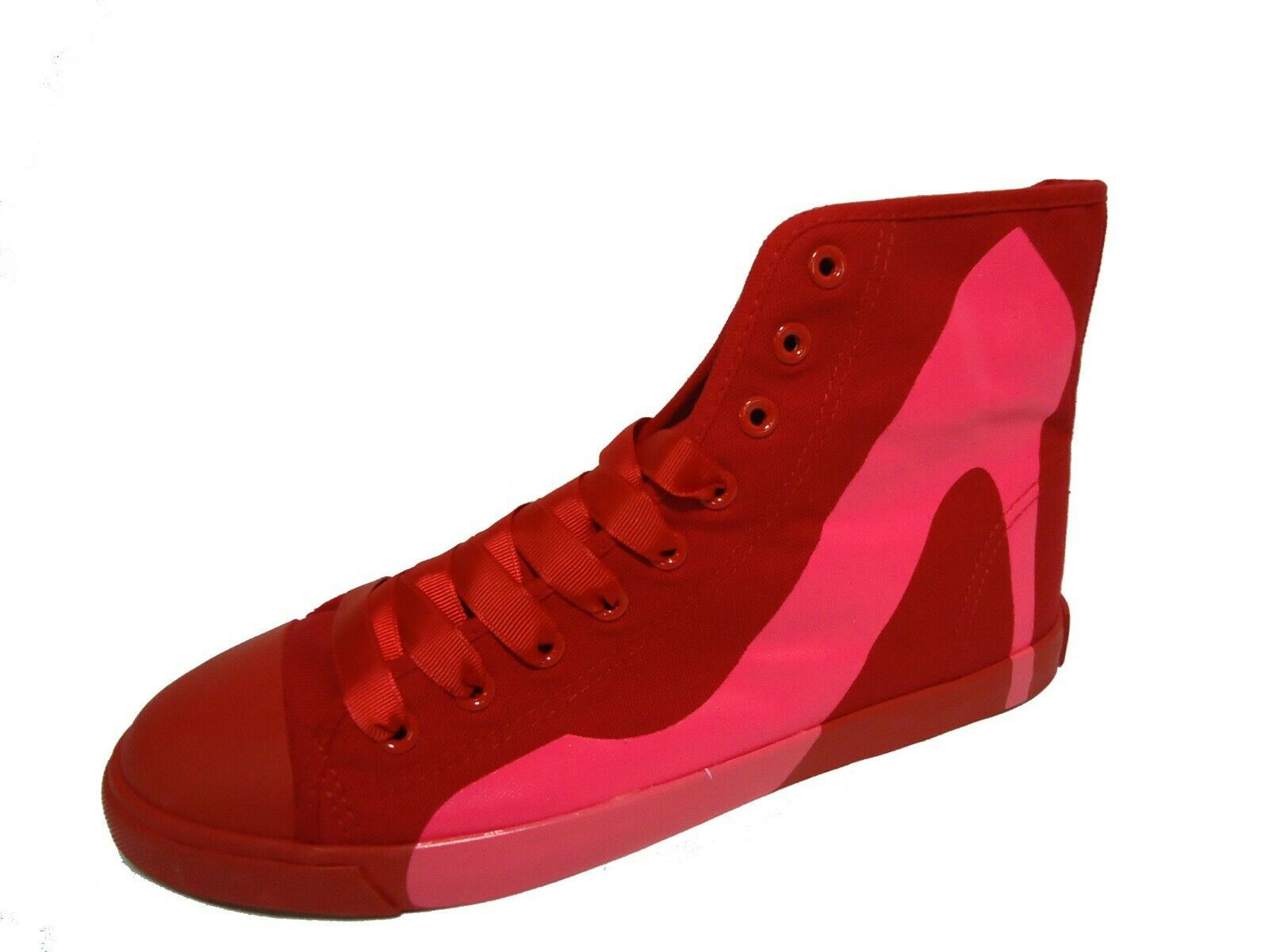 Primary image for Women Casual Sneakers Bright Lights Red Canvas Fuchsia - Sizes 5 to 10 in stock