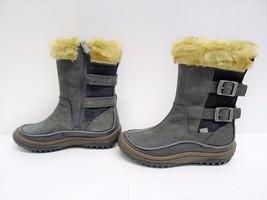 NWOB Merrell Wild Dove Women Gray Leather Mid Calf Boots Faux Fur Size 6 - $1.102,09 MXN