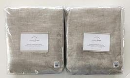 "Pottery Barn Emery Linen/Cotton Grommet ~Blackout Lining~Set of Two~ 50"" x 96"" ~ - $262.35"