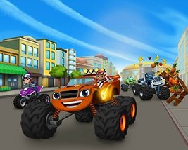 Blaze and the Monster Machines Trucks Edible Cake Topper Frosting 1/4 Sh... - $6.36