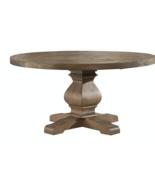 "60"" Restoration Salvaged  Rustic Solid Wood Round Trestle Pedestal Dinin... - $1,383.00"