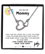First Time Mom Pregnancy Gift, Necklace with Message Card, Baby Bump Gif... - £18.17 GBP