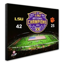 LSU Tigers 2019 NCAA Football Champions/Score - 16x20 Photo on Stretched Canvas - $75.95