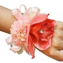 4 Pcs Wedding Flower Wristband Bride Bridesmaid Wrist Corsage Bracelet, ... - $24.36