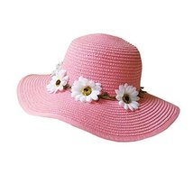 Sunscreen Large Brimmed Hat Child Children Folding Beach Hat UV Girls Summer image 1