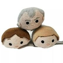 Star Wars Tsum Tsum Plush Lot Han Solo Luke Skywalker  Grand Moff Tarkin... - $12.26