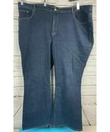 Venezia Lane Bryant Size 26 Average Stretch Flare Denim Dark Blue Jeans ... - $33.33
