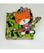 Green Rock & Roll Cat Novelty Note Paper Book - $3.95