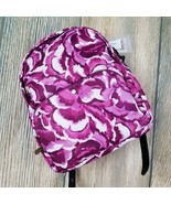 New TOMMY BAHAMA water resistant purple pink floral print backpack (JH89) - £51.08 GBP