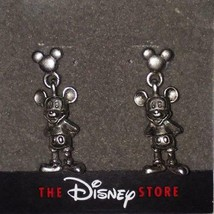 Disney Mickey Mouse THREE-DIMENSIONAL Antique Silver Dangle EARRINGS**RARE/NEW!! - $24.99