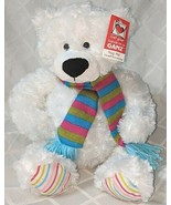 GANZ HX11211 Gusty The White Bear Hug Me Collection 15 Inches 3 Plus Age - $17.00