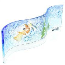 Fused Art Glass Christmas Heraldic Angel Wavy Decor Sun Catcher Handmade Ecuador image 3