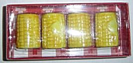 Miniature Yellow Corn On Cob Salt Pepper Shaker Set of 4 Boston Warehou... - $9.99