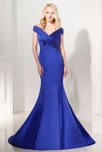 Satin Mermaid Bridesmaids Dresses at Bling Brides Bouquet - Online Brida... - $159.99