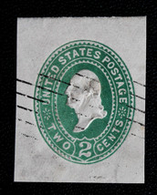US Stamp Scott# U318 Used Postal Cut Square Washington 1887-94  - $7.99