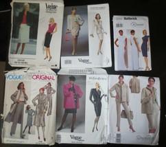 Lot 6 Designer Vogue Butterick Patterns SZ 8 to 16 most 12 Oscar de la Renta - $40.00