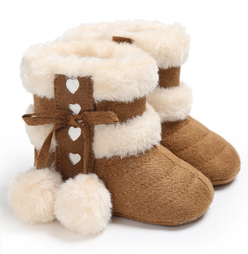 Used, Snow Boots 0-18 months Infant Shoes Girls Antiskid Keep Warm Baby Toddler Boots for sale  USA