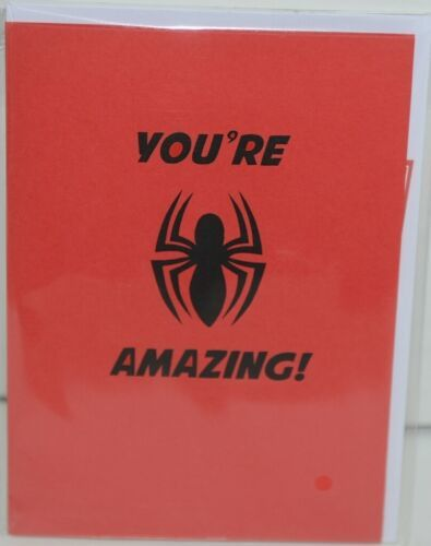 Lovepop LP2186 Spider Man Youre Amazing Red Pop Up Card White Envelope