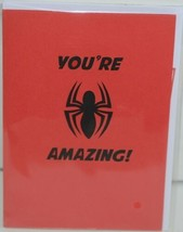 Lovepop LP2186 Spider Man Youre Amazing Red Pop Up Card White Envelope image 1