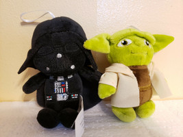 "Hallmark Disney  Star Wars YODA DARTH VADER ORNAMENsT 5"" Plush Stuffed - $9.99"