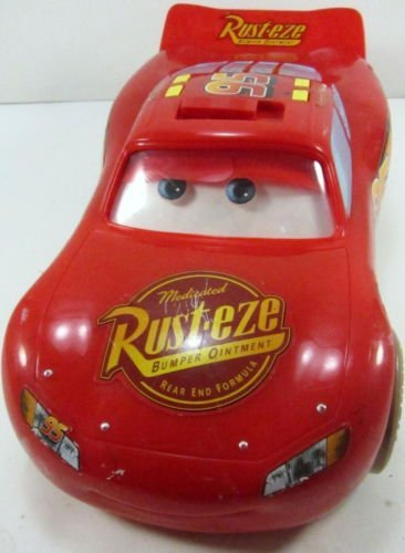 Cars Talking Lightning McQueen Mud Track - Movable Eyes - Disney Pixar- RARE