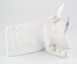 Lladro Collector's Society Scroll w/ Dove and Quixote Plaque Great Condi... - €91,25 EUR