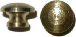 SMALL TURNED SOLID BRASS KNOB B0303 - $2.50
