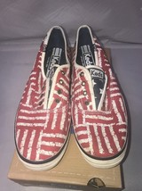 Keds Champion Red Stripe Laceless Fashion Sneakers Size 7.5 - $31.19