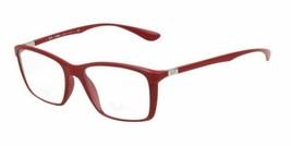 Ra Ban RX7036 5441 52MM Liteforce Matte Red Rectangle RX Eyeglass Frames - $49.09