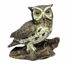 Owl Figurine vtg porcelain sculpture great horned bird decor statue homc... - $28.89