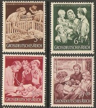1944 Child and Mother Set of 4 Germany Postage Stamps Catalog Number B253-56 MNH