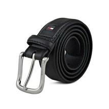 Tommy Hilfiger Men's Premium 35MM Leather Casual Belt Black 11TL02X038