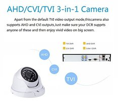 Security Dome Camera ZY 2.0MP 3 in 1 HDTVICVI IR night vision 1080P - $51.55