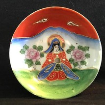 Hand Painted Satsuma Style Porcelain Bowl With Figure of One Immortal - $11.30
