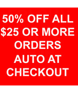 THROUGH JAN 25 50% OFF ALL $25 OR MORE AUTOMATICALLY AT CHECKOUT MAGICK ... - $0.00