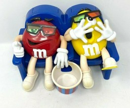M&M Limited Edition Candy Dispenser Red And Yellow At The Movies In 3-D - $12.19