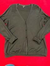 Talbots Black Cotton Blend Cardigan Long Sleeve Women's Size L - $18.51