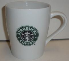 STARBUCKS COFFEE CERAMIC MUG 8 Oz 3.75'' - 2007 White Logo Tea Hot glass - $3.99